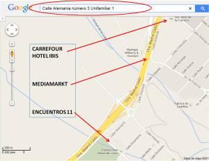 Mapa ubicación de ENCUENTROS 11